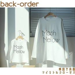 【予約商品】韓国子供服 春物 ✭ キッズとお揃い♥ ロゴ Tシャツ ✭