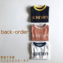 【予約商品】送料無料⑅* 韓国子供服 ✭ GOLDEN Tシャツ ✭