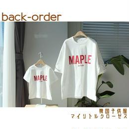 【予約商品】送料無料⑅* 韓国子供服 ✭ MAPLE Tee ✭ ママ レディース ✭