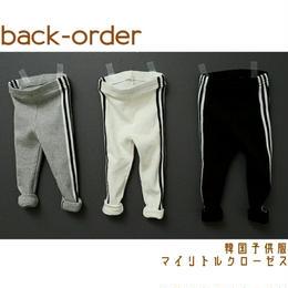 【予約商品】韓国子供服 春物 ✭ ライン レギンス ✭