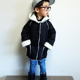 韓国子供服 ✭フェイクムートンコート ✭