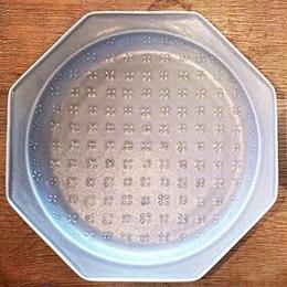 八角花皿 マットグレー