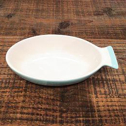 サカナグラタン皿  L ライトブルー