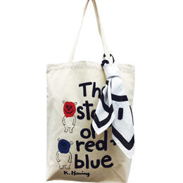 The Story of Red and Blue Tote Bag