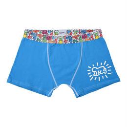 Clothmania x Keith Haring  メンズ ボクサーパンツ(Blue/Baby)