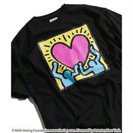 Keith Haring × NOUNO Big T-Shirt(Black/Heart) キース・ヘリング ビッグシルエットTシャツ