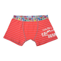 Clothmania x Keith Haring  メンズ ボクサーパンツ(Dog/Red)