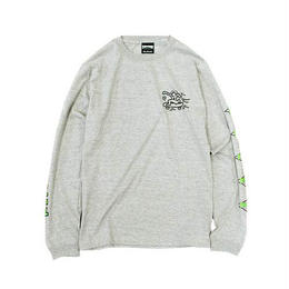 Keith Haring × THRASHER Print Long Sleeve Tee Gray