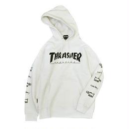 Keith Haring × THRASHER Logo Hoodie White