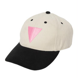 Good Catch Pink Triangle Embroidered Cap (Natural)