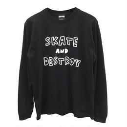 Keith Haring × THRASHER  Long Sleeve T-shirt  Black