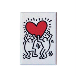 Keith Haring Rectangular Magnet (Figures Holding a Heart)