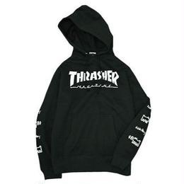 Keith Haring × THRASHER Logo Hoodie Black