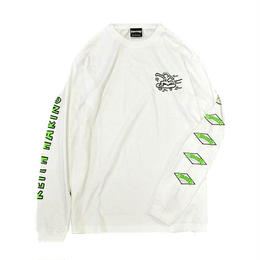 Keith Haring × THRASHER Print Long Sleeve Tee white