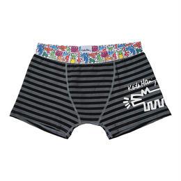 Clothmania x Keith Haring  メンズ ボクサーパンツ(Dog/Black)