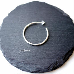 【tronc】sv925 hammered pierce L (1pc)
