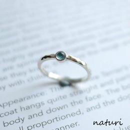 【tronc】sv925 blue topaz ring