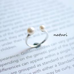 【pianeta】sv925 pearl × pearl ring