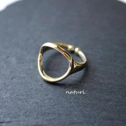 【luna】brass moon ringⅡ