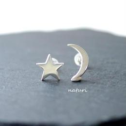 【luna】sv925 moon pierce (2pcs)