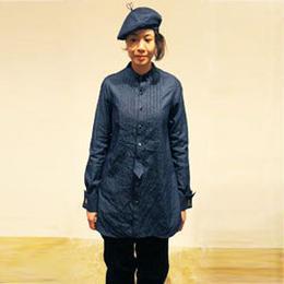 【SALE】インディゴ ロングパーティーシャツ(レディース)