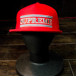 Supreme cap (レッド)