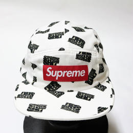 supreme 2017SS SHIT CAMP CAP WHITE