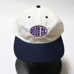 THE GOOD COMPANY  CAP WHITE×NAVY