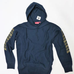 SUPREME 2017SS SLEEVE ARC HOODED SWEATSHIRT NAVY M