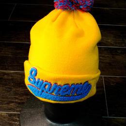 supreme (ビーニー) (ニットキャップ) イエロー