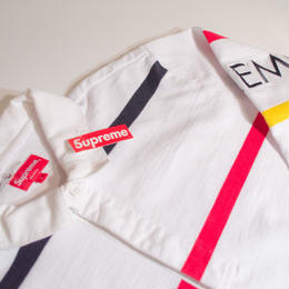 Supreme Striped Rugby White ラガーシャツ(ホワイト)