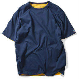 LAFAYETTE LOGO DOUBLE FACE TEE NAVY×YELLOW <M,L>