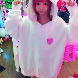 ミニ兎ねむいの♡zipパーカー/魔法都市東京×HOMELESS PARTY.