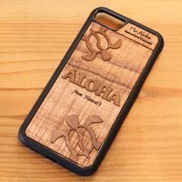 【 ホヌ 】ハワイ産 スマホケース 【 Ho Aloha 】 ハワイアン コアウッド アイフォンケース