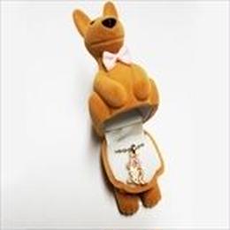 【 カンガルー 】Wildlife Garden アニマルペンダント 愛しい ベロアボックス ♡ ユニークな動物たち ペンダント 40cm アジャスタ付