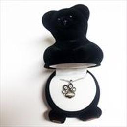 【くま】Wildlife Garden アニマルペンダント 愛しい ベロアボックス ♡ ユニークな動物たち ペンダント 40cm アジャスタ付
