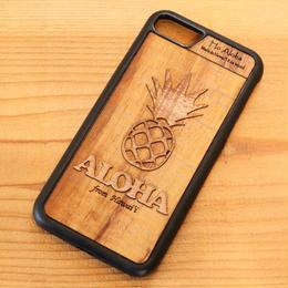 【 パイナップル 】ハワイ産 スマホケース 【 Ho Aloha 】 ハワイアン コアウッド アイフォンケース