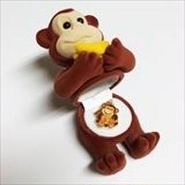 【 モンキー 】Wildlife Garden アニマルペンダント 愛しい ベロアボックス ♡ ユニークな動物たち ペンダント 40cm アジャスタ付