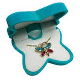 【 バタフライ 】ブルー  Wildlife Garden アニマルペンダント 愛しい ベロアボックス ♡ ユニークな動物たち ペンダント 40cm アジャスタ付