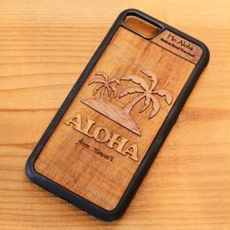 【 パームツリー 】ハワイ産 スマホケース 【 Ho Aloha 】 ハワイアン コアウッド アイフォンケース