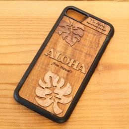 【 モンステラ 】ハワイ産 スマホケース 【 Ho Aloha 】 ハワイアン コアウッド アイフォンケース