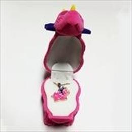 【 恐竜】ピンク  Wildlife Garden アニマルペンダント 愛しい ベロアボックス ♡ ユニークな動物たち ペンダント 40cm アジャスタ付