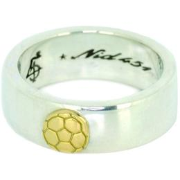 Saccer Boll Ring 18 gold top