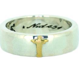 Jesus Ring 18 gold top