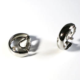 C-ring _ silver   pierce /  earring