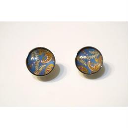 paisley _ blue pierced / earring