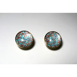 paisley _ turquoise pierced / earring