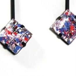 painting  ◇ _ pink pierced / earrings