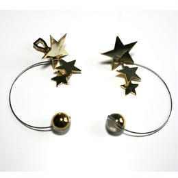 PLANET-normal _ gold pierced / earring