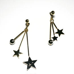 four star pierced / earrings